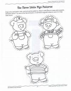 printable three little pigs house templates pig crafts With pig puppet template