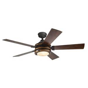 kichler lighting 52 in distressed black and wood ceiling fan lowe s canada