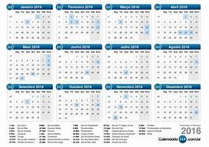 Calendário de Feriados de 2016 Programese para viajar