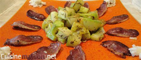 comment cuisiner un filet de canard courgettes au magret de canard fumé