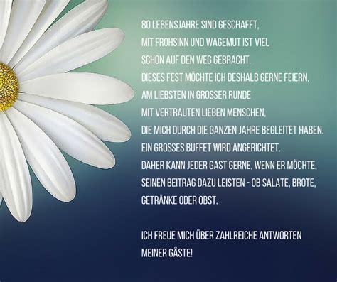 besinnliches zum 80 geburtstag einladung zum 80 geburtstag spr 252 che und gedichte als einladungstexte einladungskarten geburtstag
