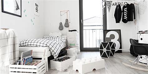 chambre noir et blanc design enfants modèles la sélection mode et design pour les