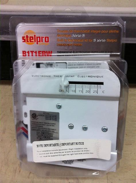 stelpro built  thermostat kit   series baseboard heater bterw white  baseboards