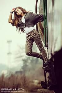 Woman Posing At The Old Train  U2013 Fashion Portrait