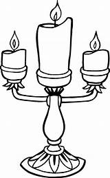 Coloring Candle Pages Print sketch template