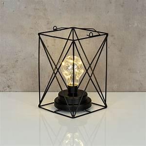 Lampe Industrial Style : lampe led metall schwarz 12x19cm industrie leuchte industrial design vintage levandeo ~ Markanthonyermac.com Haus und Dekorationen