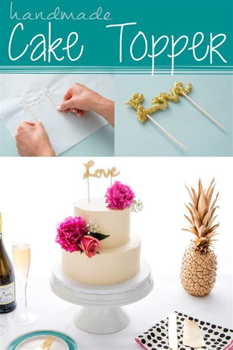 diy paper wedding cake toppers handmade cake topper using hot glue make diy cake decor