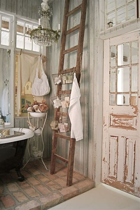 primitive country bathroom shabby chic decorating