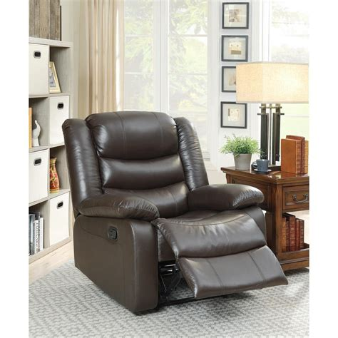 acme furniture acme fede top grain leather recliner in