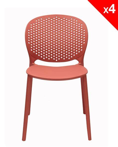 chaise de bureau moderne lot de 4 chaises moderne intérieur extérieur goa