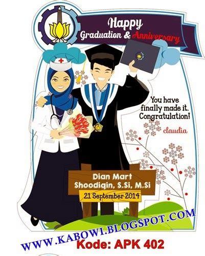kabowi produsen boneka wisuda plakat souvenir graduation kado hadiah anniversary couple ultah