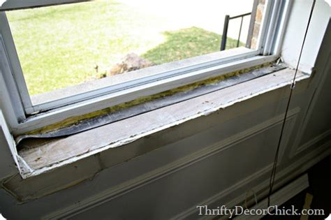 Tile Window Sill Replacement by Diy Craftsman Window Trim From Thrifty Decor