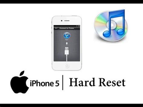 Hard Reset Apple Iphone 5 W Itunes Master Data Wipe