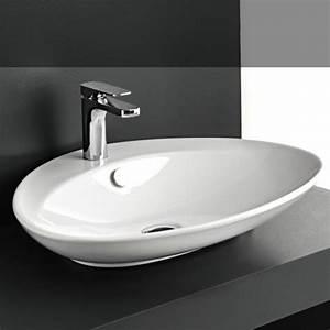 Waschbecken Oval Aufsatz : art ceram aufsatzwaschschale bs wei design paolelli meneghello ~ Frokenaadalensverden.com Haus und Dekorationen
