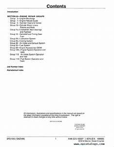 John Deere 6466 6076 Oem Marine Diesel Engines Spg1045