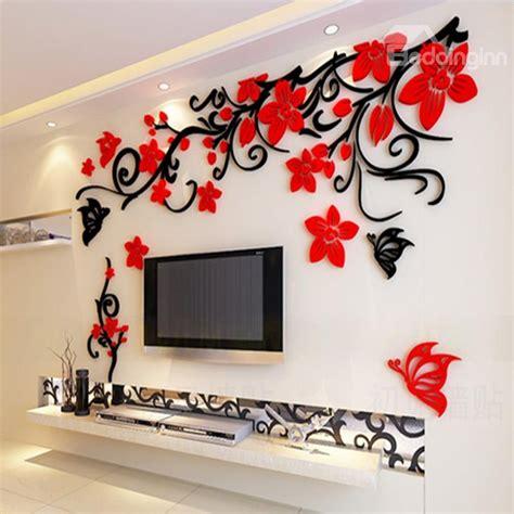 flower  butterfly pattern acrylic  tvsofa background