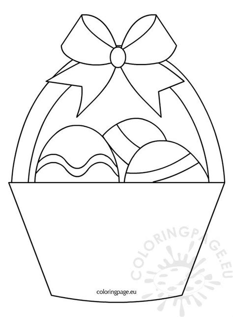 basket   easter eggs coloring page