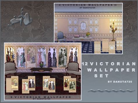 sims resource victorian wallpaper set  danuta