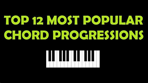 Top 12 Most Popular Chord Progressions Youtube