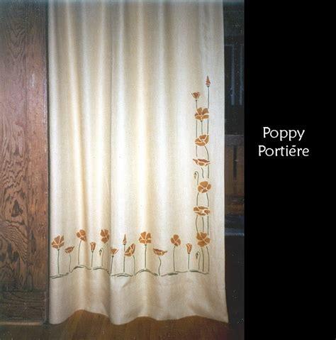 textilestudio stencilled poppy portiere of
