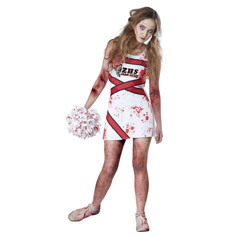 Totally Ghoul Teen Zombie Cheerleader Halloween Costume