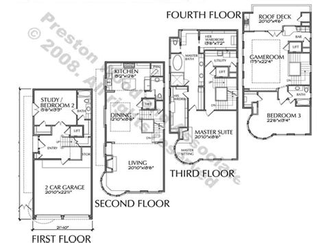 4 story house plans 4story townhouse plans 4story transparent background