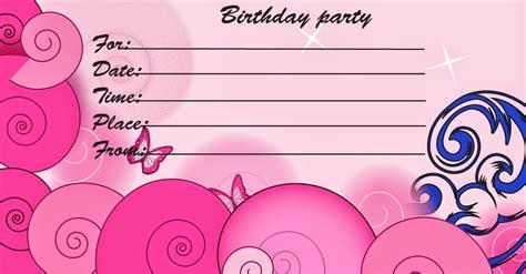 printable birthday cards printable invitation cards