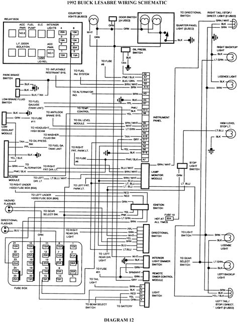 Buick Lesabre Schematic Wiring Diagrams