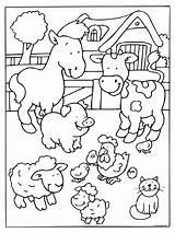 Farm Coloring Animal Preschool Worksheets Kindergarten Toddler Comment sketch template
