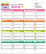 Sample Grocery List Te...