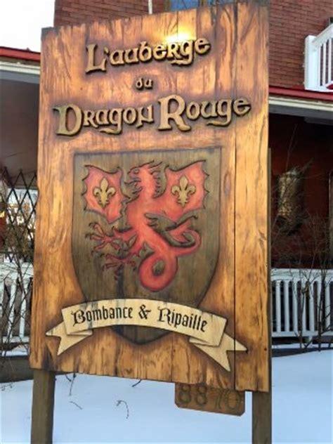 Dragon Rouge Menu Auberge Du Dragon Rouge Montreal Menu Prices