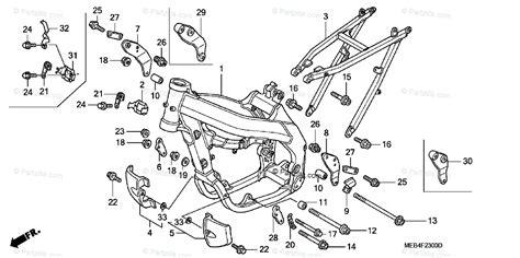 Honda Motorcycle Oem Parts Diagram For Frame