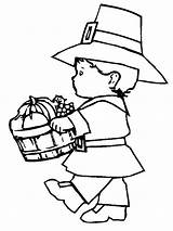 Coloring Pilgrim Thanksgiving Pages Printable Boy Turkey Little Fun Printables Print Lots Even sketch template