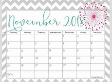 Blank Printable November 2018 Calendar Word Monthly