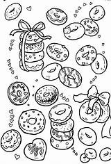 Coloring Donut Donuts Printable Adult Doodle Colouring Doughnuts Drawing Doodles Coffee Sheets Donats Cupcake Pattern Drawings Patterns Zeichnungen Glückwunschkarte Kleine sketch template