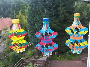 windspiel handarbeit plastikflasche fruhling geschenk With französischer balkon mit windrad für garten kaufen