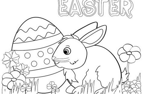 Printable Easter Bunny Coloring Pages For