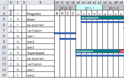 excel project management tools