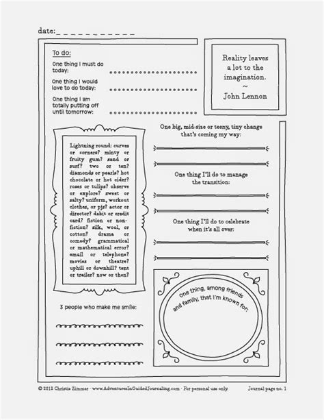 adventures  guided journaling printable guided journal