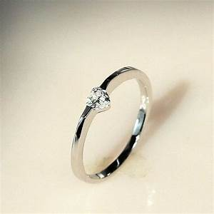 Heart Diamond Engagement Ring Simple Rings for Women ULOVE ...