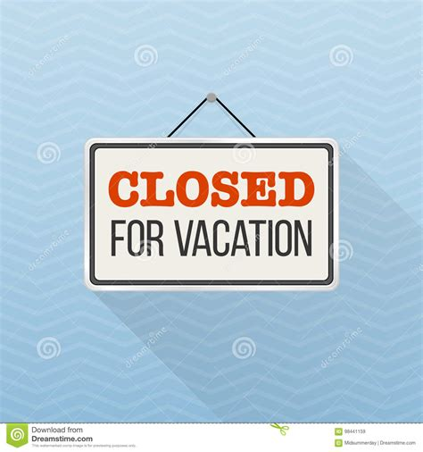 simple white sign  text closed  vacation hanging