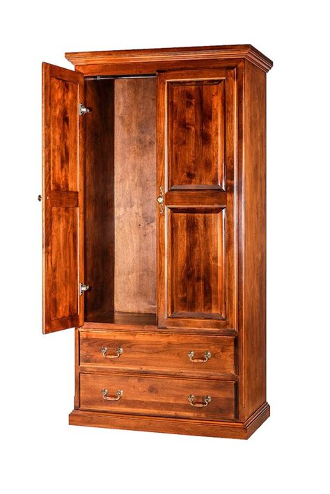 Antique Armoire With Drawers by Forest Designs Traditional 2 Drawer Antique Wardrobe 36w