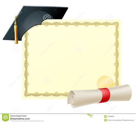 graduate certificate background royalty  stock image