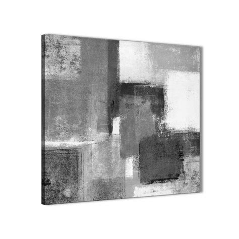 Abstract Black And White Wall by Black White Grey Stairway Canvas Pictures Decorations