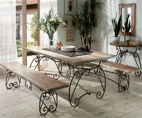 chambre style scandinave table en fer vieilli et acacia massif photo 1 20 style