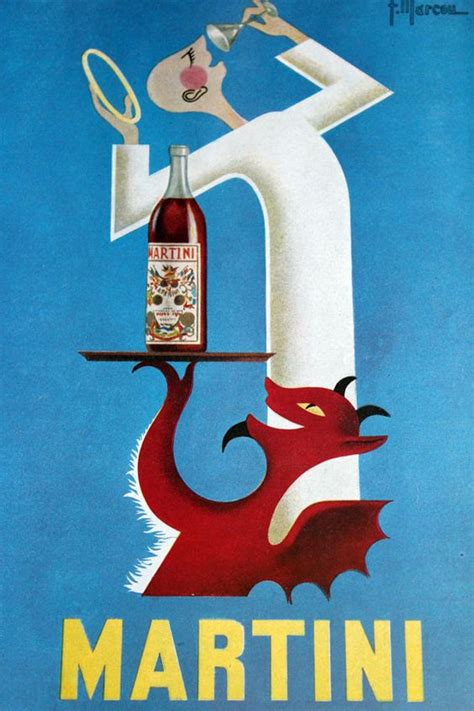 vintage martini vintage advertising poster for martini vermouth 1953