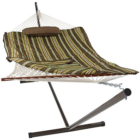 hammock and stand rope hammock with stand pad pillow portable heavy