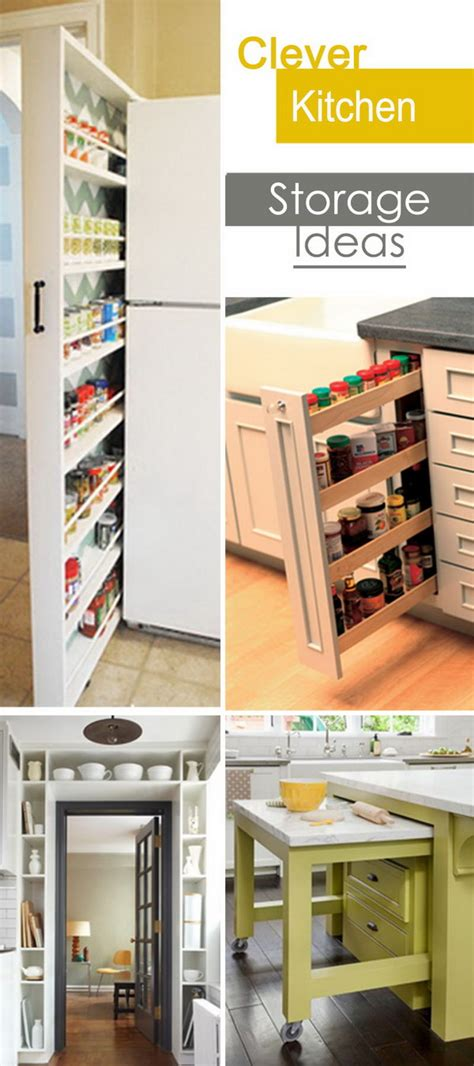 kitchen storage and organization ideas clever kitchen storage ideas hative 8607