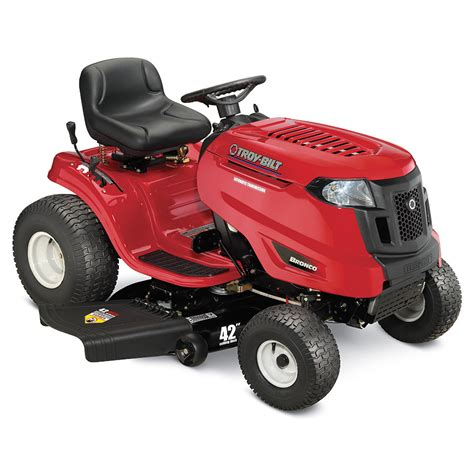 shop troy bilt bronco 17 hp automatic 42 in lawn mower at lowes