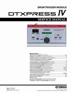 Yahama Dtxpress Iv Drum Trigger Module Service Manual And